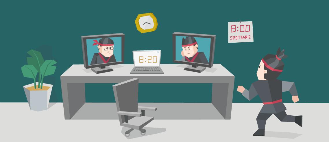 Jak przestać się spóźniać na spotkania (online)